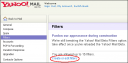 New Yahoo Mail Beta Filters Link