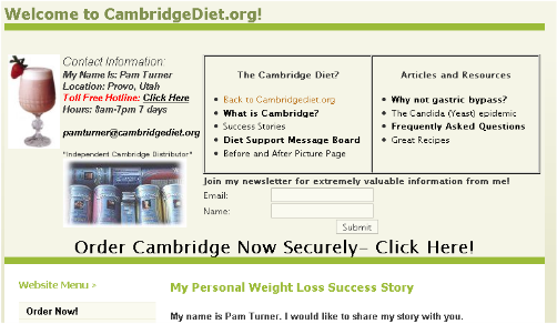 CambridgeDiet.org Homepage
