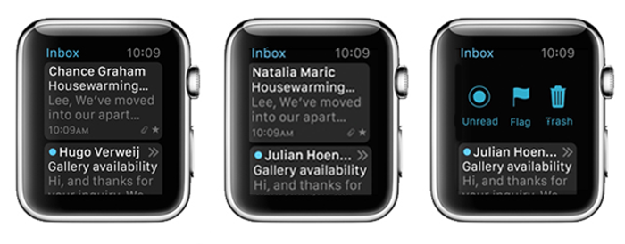 emails for apple watch