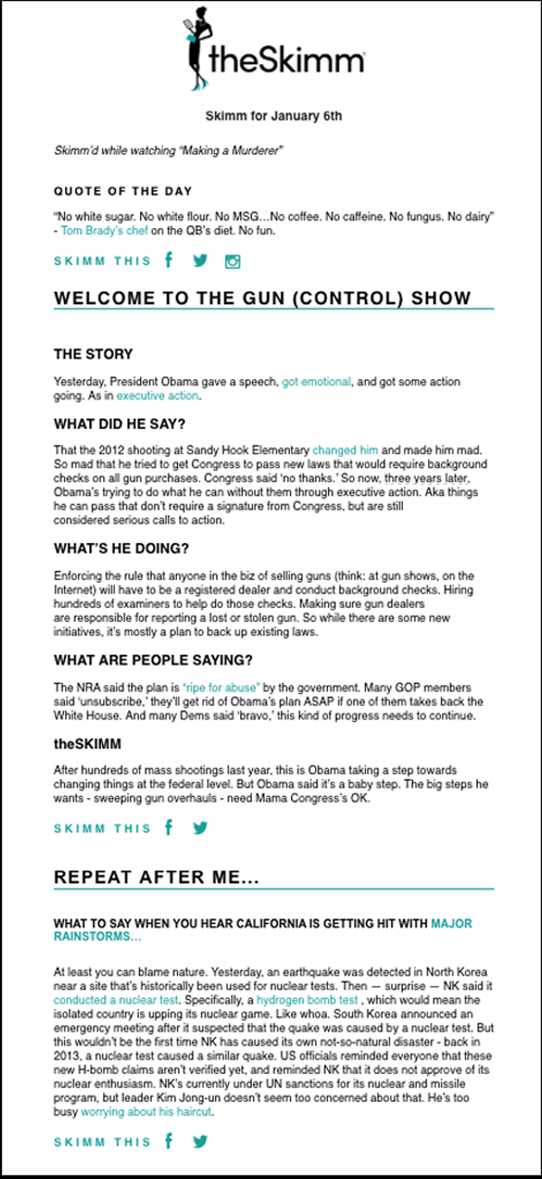 skimm newsletter