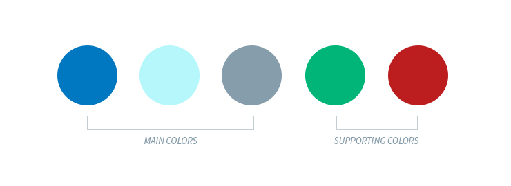 Holiday email color palette