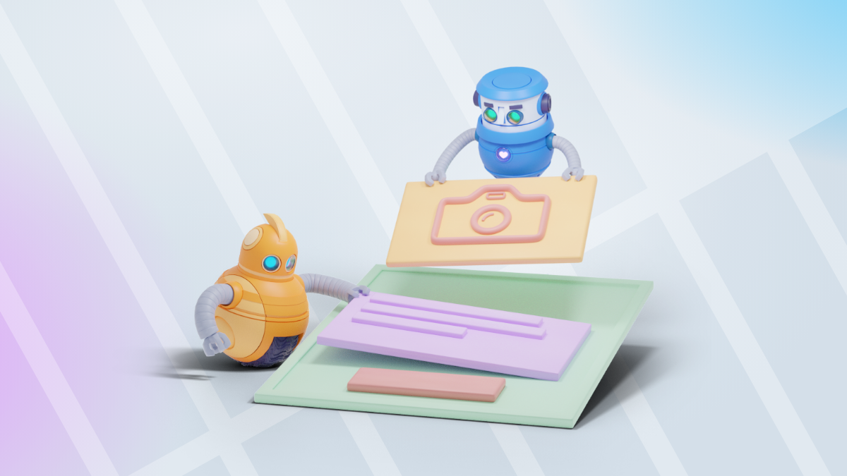AWeber robot animation showing 10 Steps to Creating a Landing Page that Converts