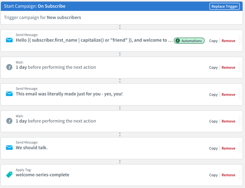 Personalize Dynamic campaign workflow