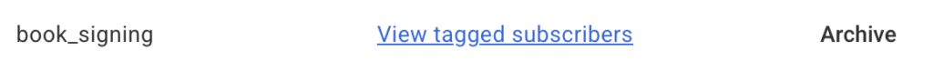 Archive subscriber tags image